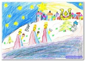 Konkurs plastyczny na projekt kartki pocztowej Gminy Bychawa Boże Narodzenie 2019 – zaproszenie