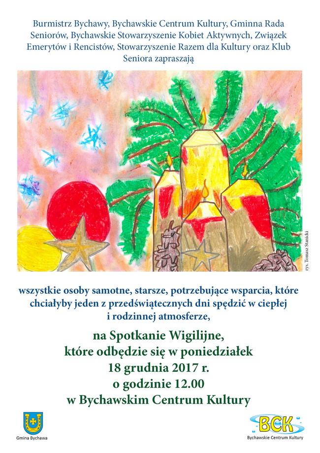 2017 12 15 Zaproszenie Wigilia Bck Plakat Bychawa Gmina Bychawa