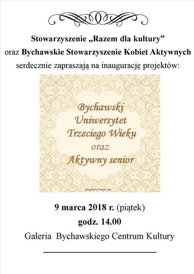 """Startują projekty """"Bychawski Uniwersytet Trzeciego Wieku"""" oraz""""Aktywny senior"""""""