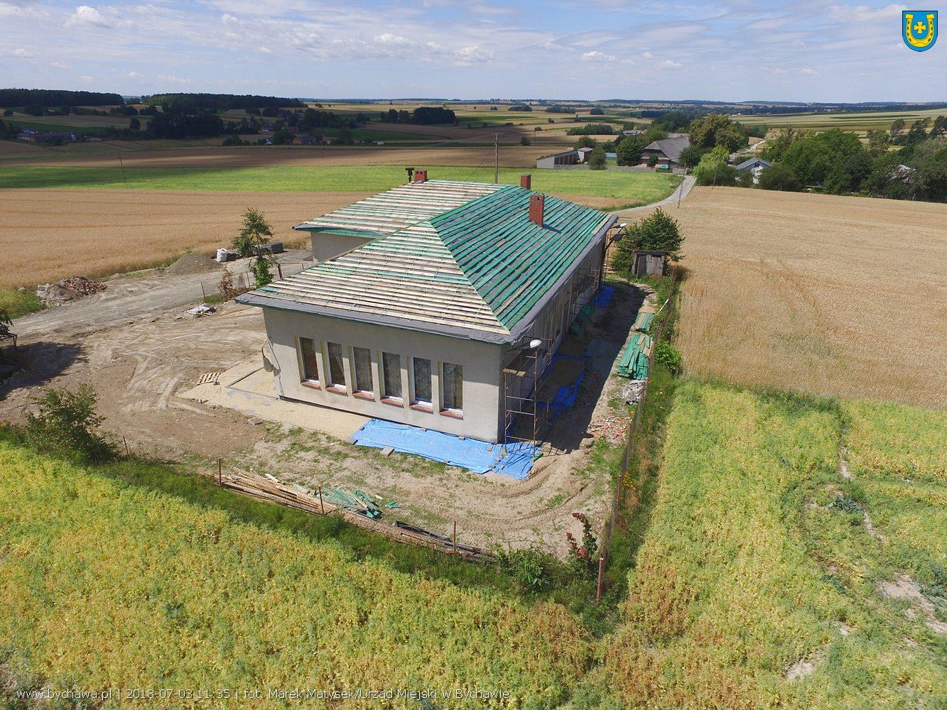 Trwają prace remontowe w Centrum Kultury Wiejskiej w Zaraszowie-Kolonii