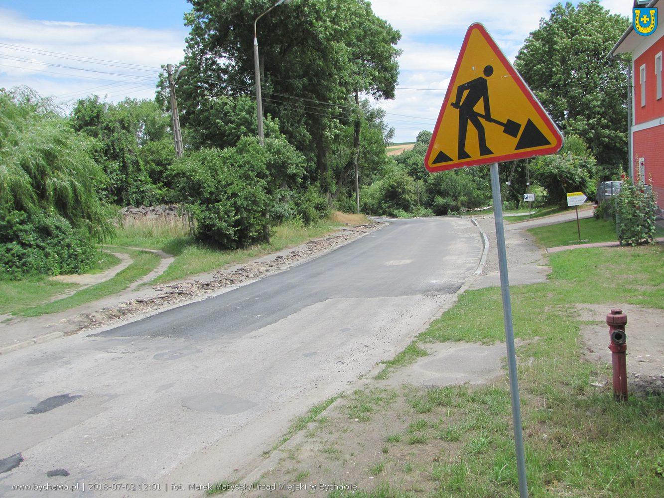 Trwają prace na ul. Mikołaja Pileckiego w Bychawie