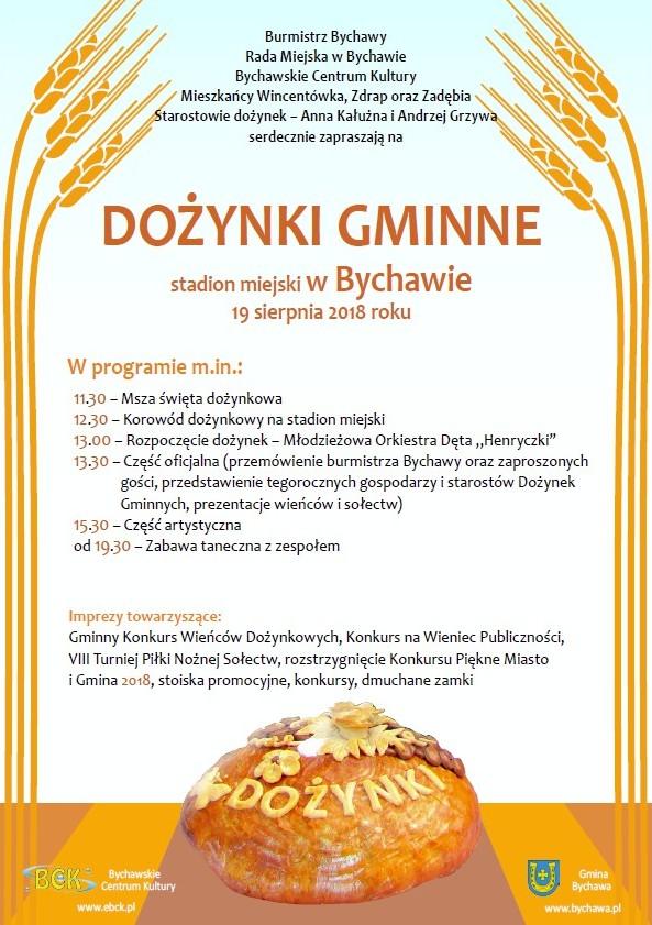 Zaproszenie na dożynki gminne
