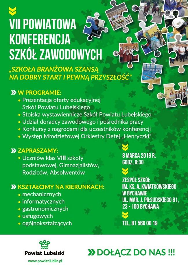 VII Powiatowa Konferencja Szkół Zawodowych – Bychawa 2019