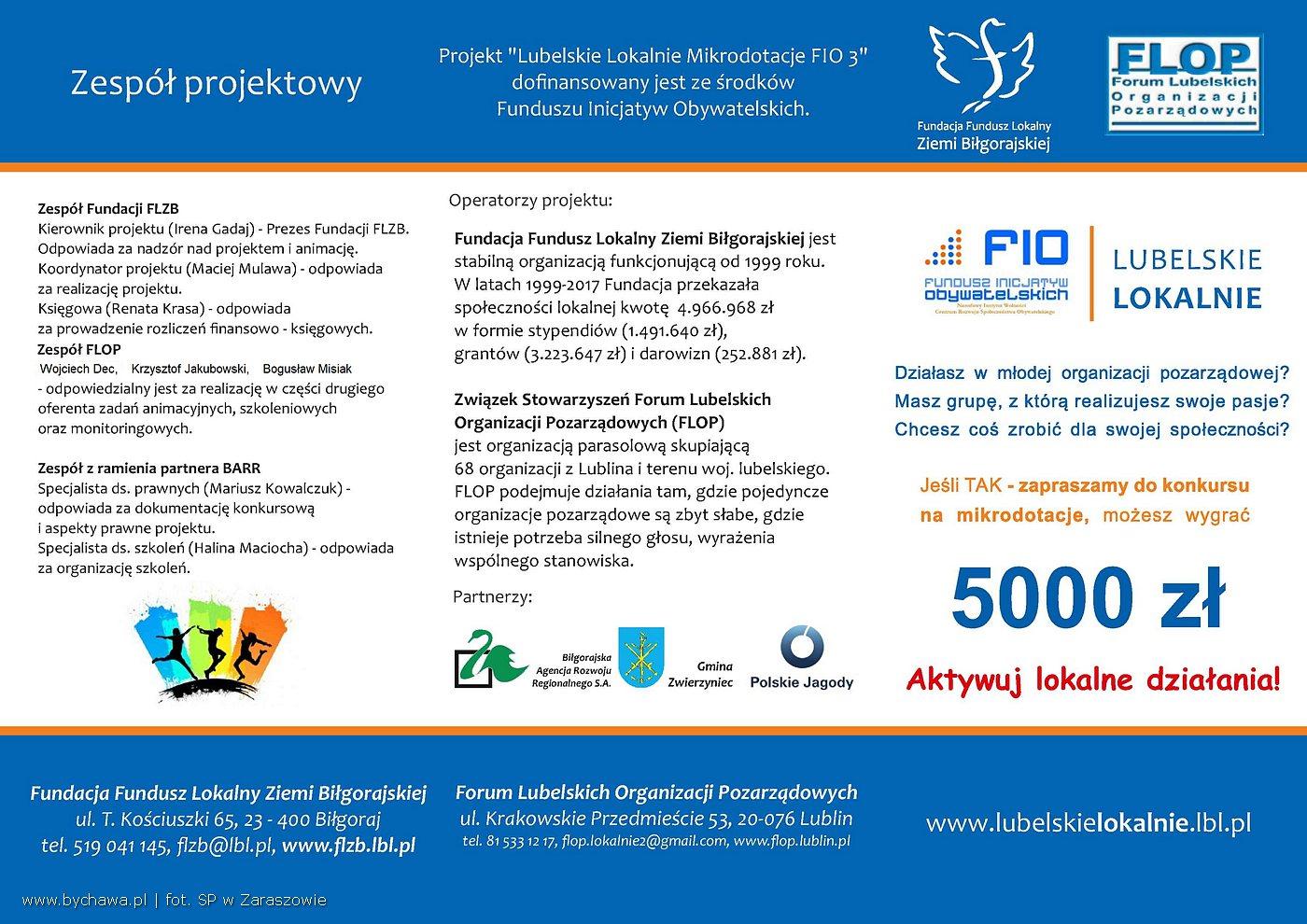 Zaproszenie na szkolenia dla organizacji pozarządowych, grup nieformalnych i samopomocowych z terenu woj. lubelskiego