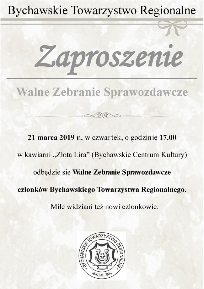 Zaproszenie na Walne Zebranie Sprawozdawcze członków BTR
