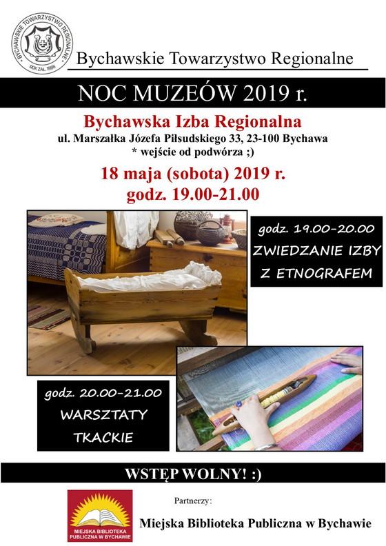 NOC MUZEÓW – Bychawska Izba Regionalna – poleca Bychawskie Towarzystwo Regionalne