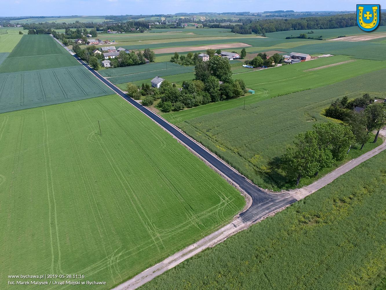 Przebudowa drogi gminnej  w miejscowości Marysin – w trakcie prac