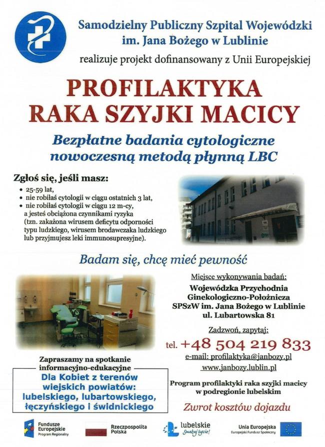 PROFILAKTYKA RAKA SZYJKI MACICY – bezpłatne badania cytologiczne nowoczesną metodą płynną LBC