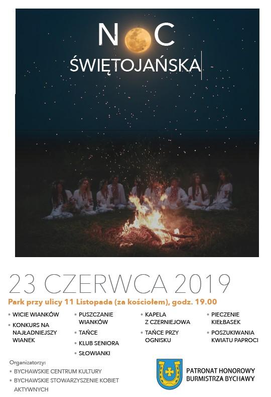 Noc Świętojańska – Bychawa 2019 – zaproszenie