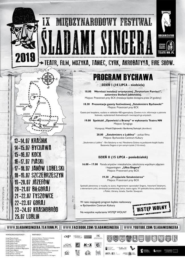IX Międzynarodowy Festiwal  Śladami Singera – 14-15 lipca Bychawa