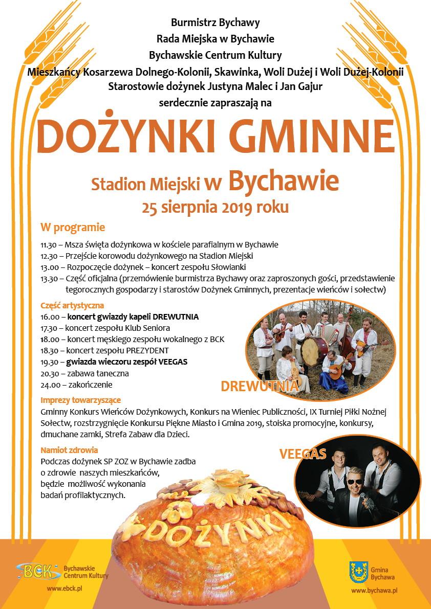 Gmina Bychawa – Dożynki Gminne – 25 sierpnia 2019 r. – zaproszenie