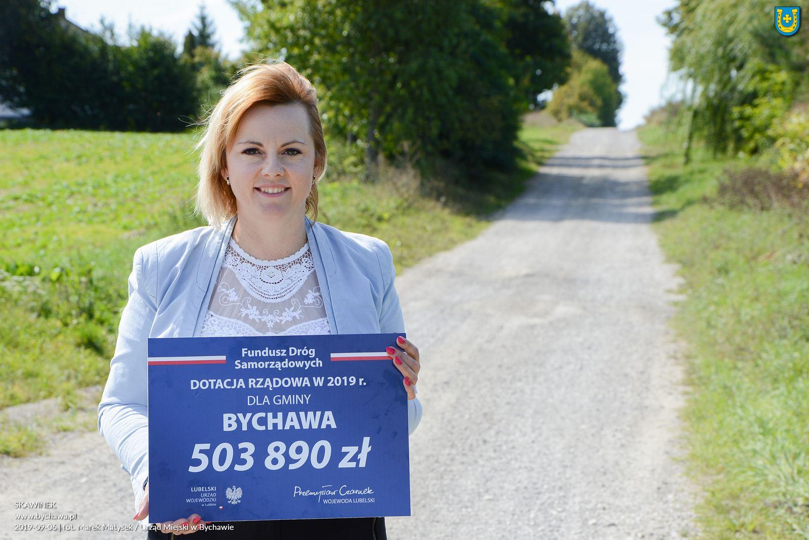 Gmina Bychawa dostała dofinansowanie na przebudowę dróg w miejscowościach Bychawka Trzecia oraz Skawinek
