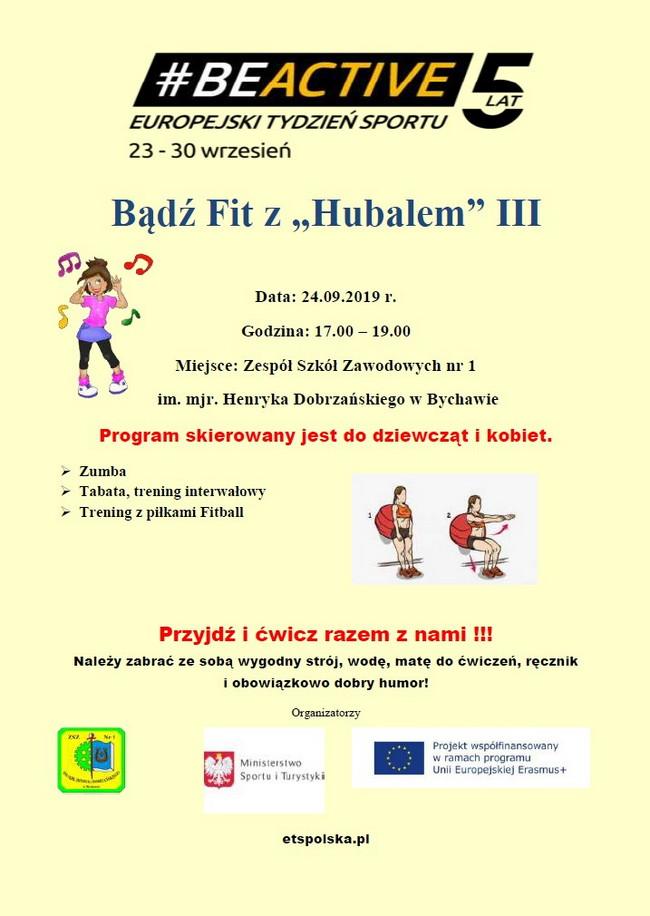 """""""Bądź Fit z """"Hubalem"""" III  – kolejna edycja  zajęć fitness dla dziewcząt i kobiet."""