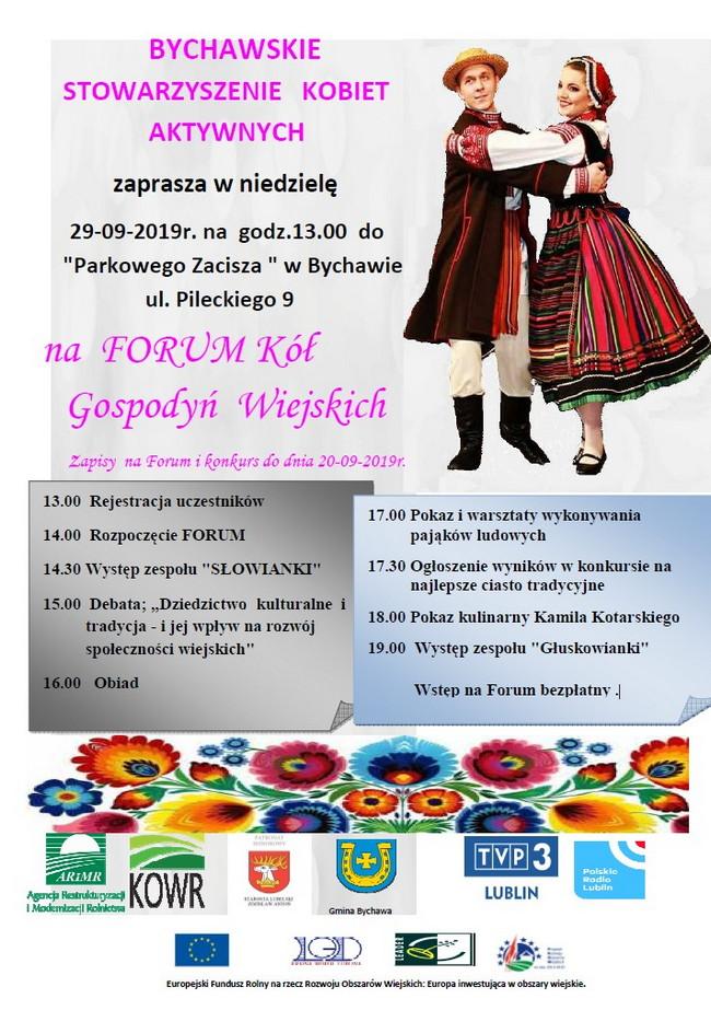 Forum Kół Gospodyń Wiejskich 29 września 2019 r.  w Bychawie – zaproszenie