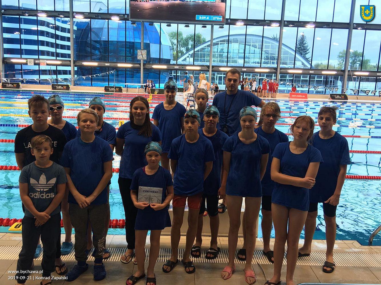 Uczniowski Klub Pływacki Bychawa wziął udział w IV rundzie Ligi Dzieci i Młodzików 11-12 lat obywającej się w Rykach
