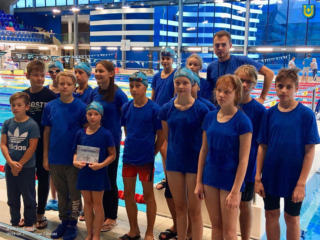 Zawodnicy z Uczniowskiego Klubu Pływackiego w Bychawie na kolejnych zawodach w Aqua Lublin – 21.09.2019
