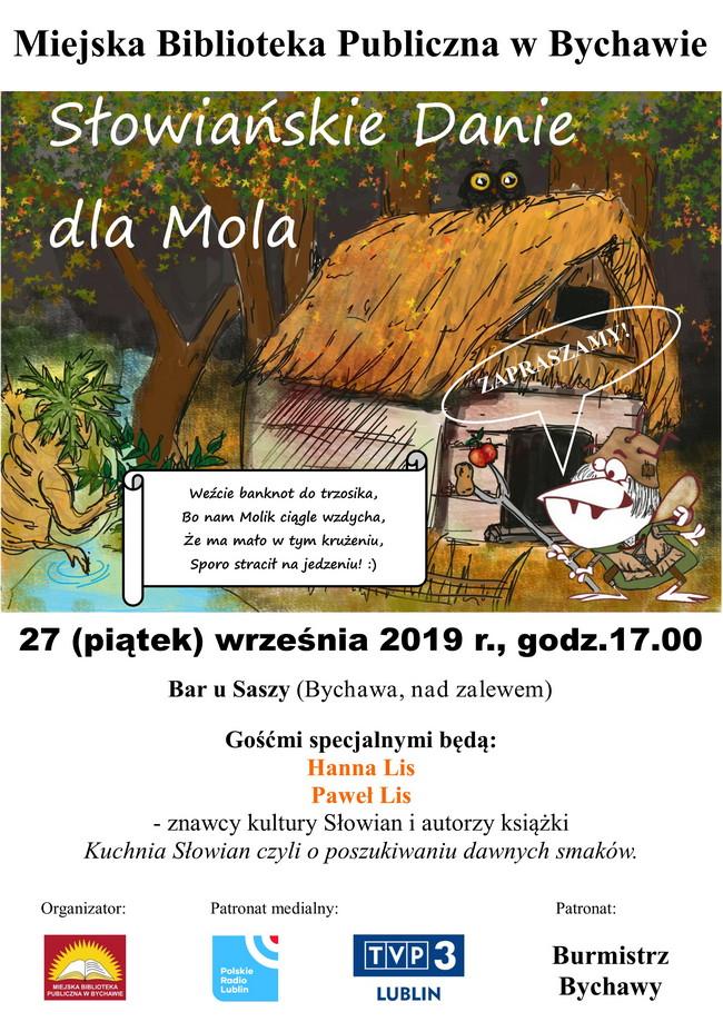 """Zaproszenie na """"Słowiańskie danie dla Mola"""" – wydarzenie literacko-kulinarne – 27 września 2019 r. w Bychawie"""