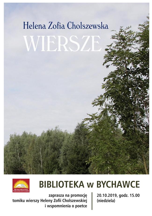 Biblioteka w Bychawce Drugiej zaprasza na promocję tomiku wierszy Zofii Heleny Cholszewskiej oraz wspomnienia o poetce
