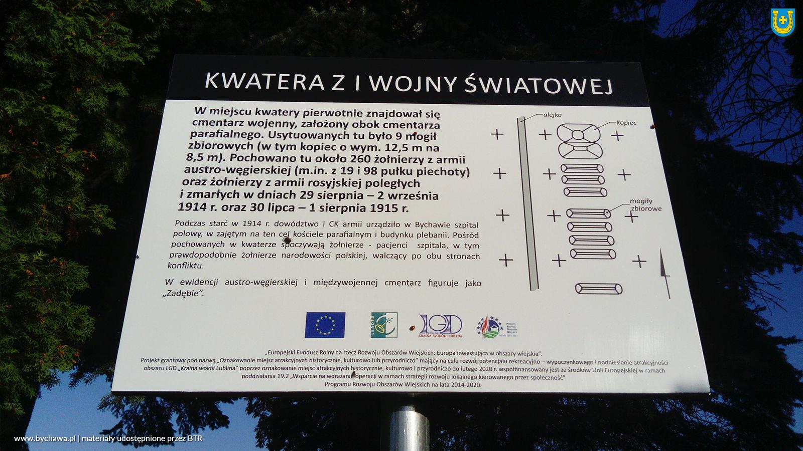 """Zakończenie zadania """"Oznakowanie miejsc historycznych na terenie Bychawy"""" przez Bychawskie Towarzystwo Regionalne"""