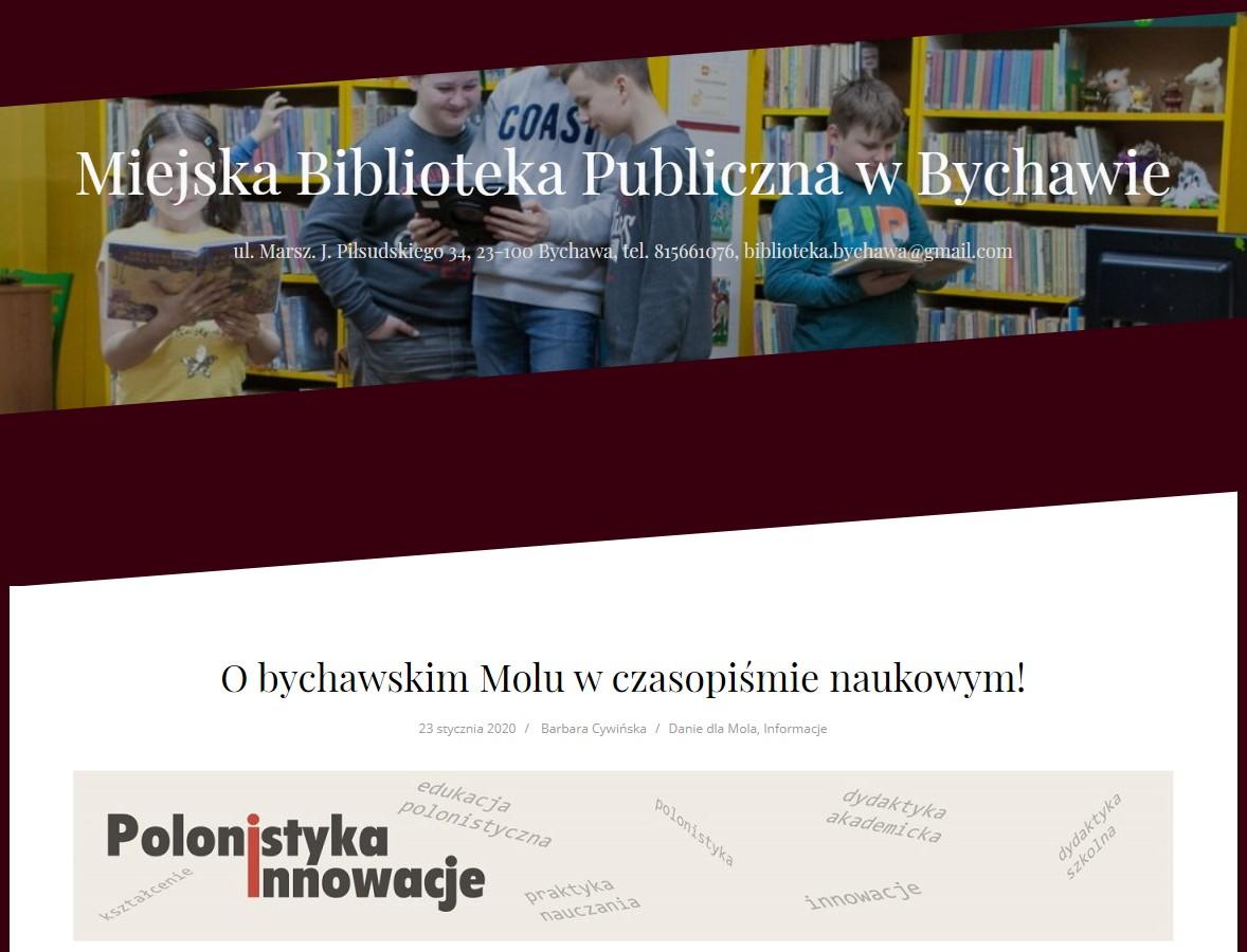 O bychawskim Molu w czasopiśmie naukowym!