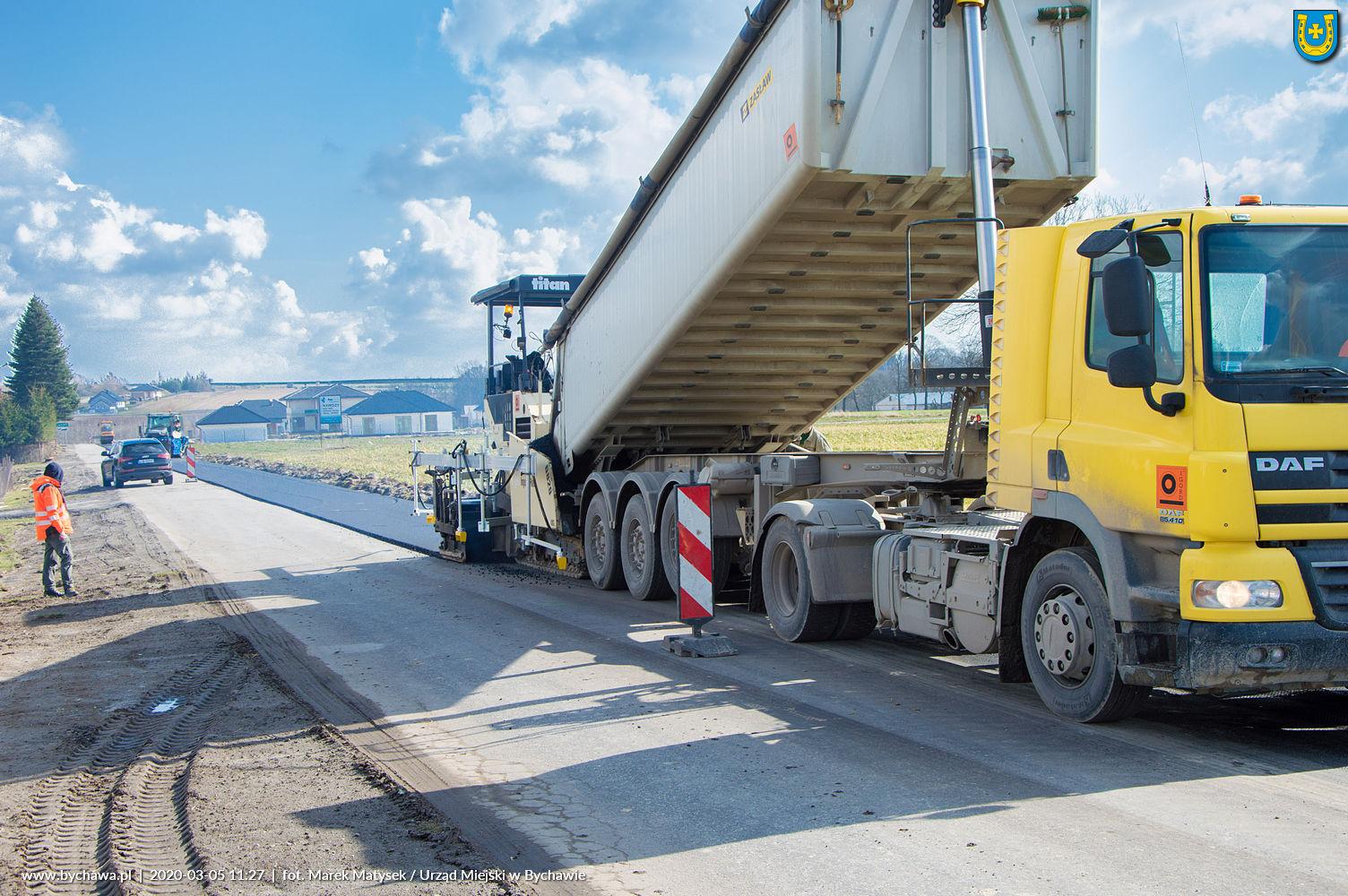 Przebudowa drogi powiatowej nr 2288L Kiełczewice – Leśniczówka – Bychawa (ul. Grodzany) – aktualne prace drogowe na 5.03.2020 r.