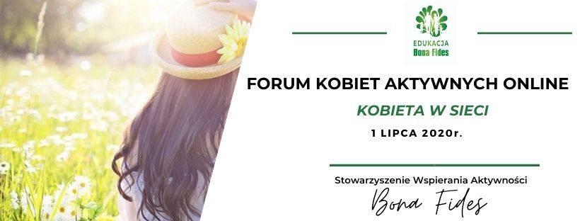 Zaproszenie dla liderek, działaczek organizacji pozarządowych, animatorek społeczności lokalnych i wszystkich chętnych kobiet do udziału w wyjątkowej edycji Forum Kobiet Aktywnych Online
