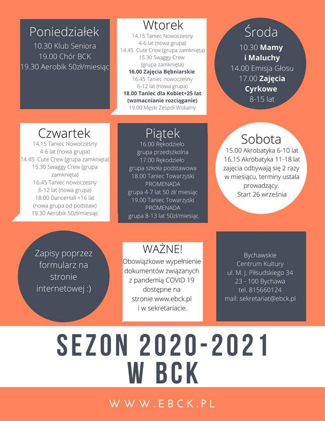 BCK rusza z zajęciami nowym sezonie 2020-2021