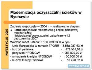Inwestycje 2007