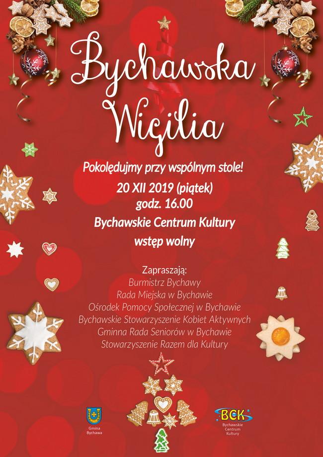 Bychawska Wigilia 2019 w Bychawskim Centrum Kultury – zaproszenie