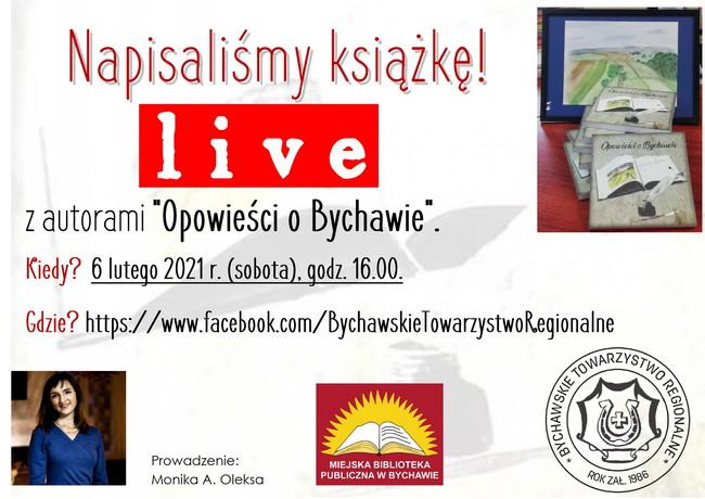 """LIVE z autorami """"Opowieści o Bychawie"""" – Bychawskie Towarzystwo Regionalne zaprasza"""