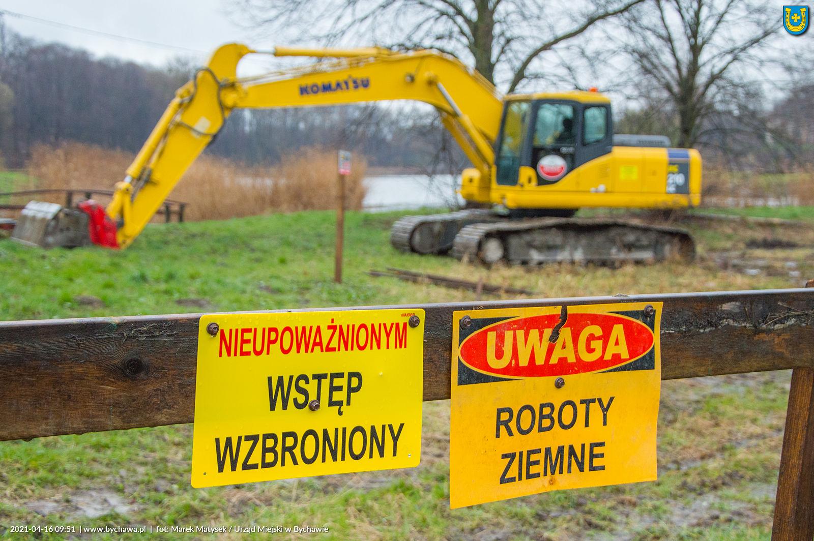 W trosce o bezpieczeństwo do końca maja 2021 r.  na terenie zalewu w Bychawie obowiązuje bezwzględny zakaz przebywania na terenie placu budowy