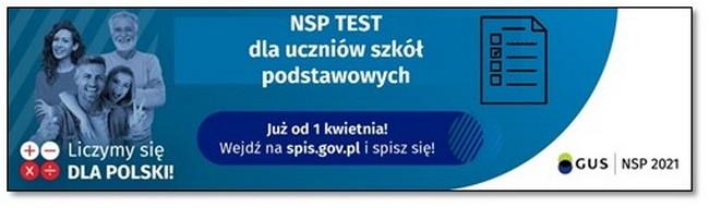 Konkurs NSP test wiedzy o Narodowym Spisie Powszechnym 2021 dla uczniów szkół podstawowych przygotowany przez Urząd Statystyczny w Lublinie