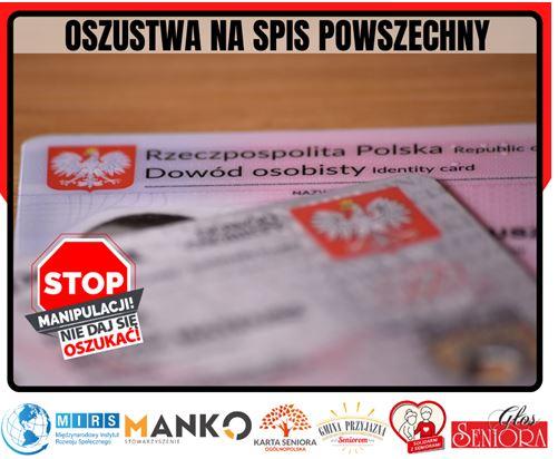 Oszustwa na spis powszechny</br>Stop Manipulacji – nie daj się oszukać!