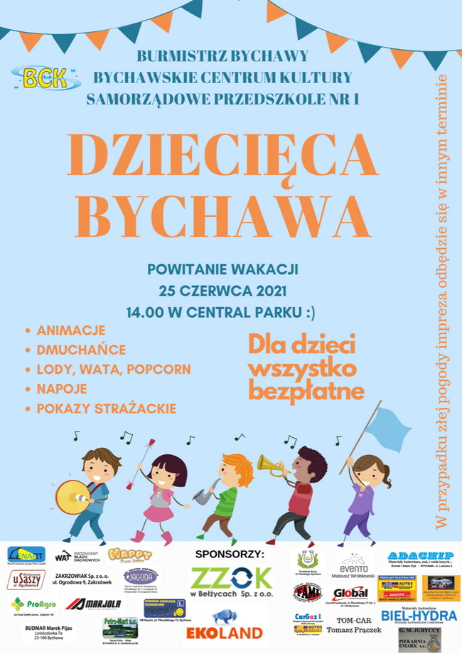 Dziecięca Bychawa – powitanie wakacji w piątek 25 czerwca 2021