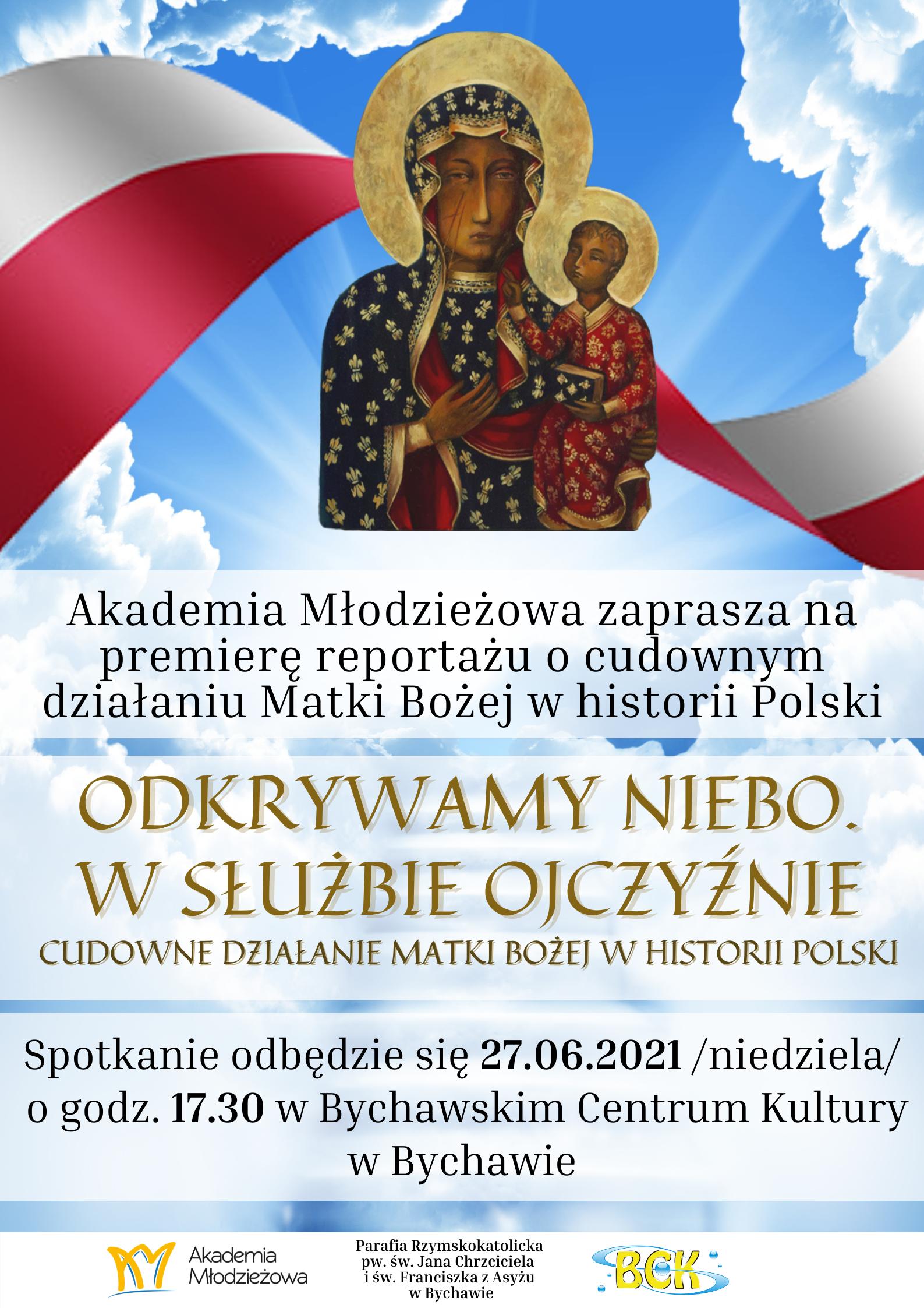 """Zaproszenie na spotkanie patriotyczne """"Odkrywamy Niebo. W Służbie Ojczyzny"""""""