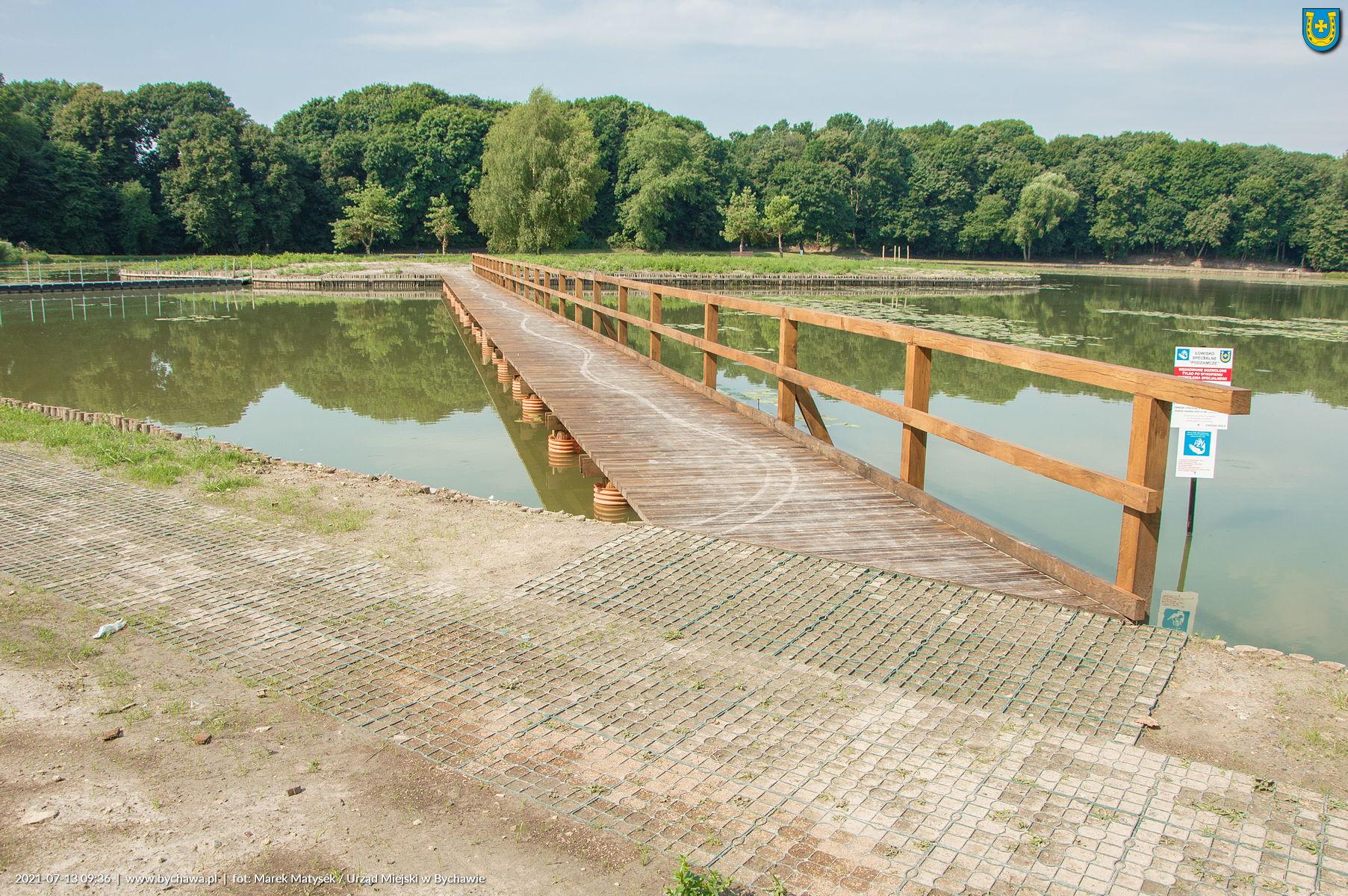 Modernizacją bychawskiego zalewu – stan na 13 lipca 2021 r.