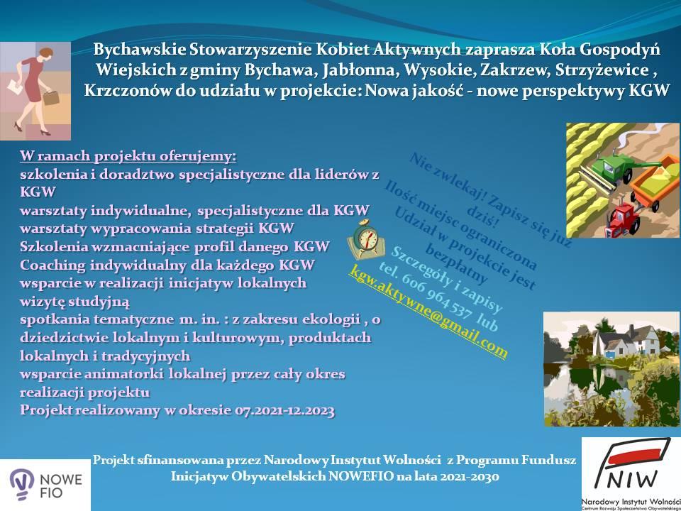 Bezpłatne szkolenia dla bychawskich KGW
