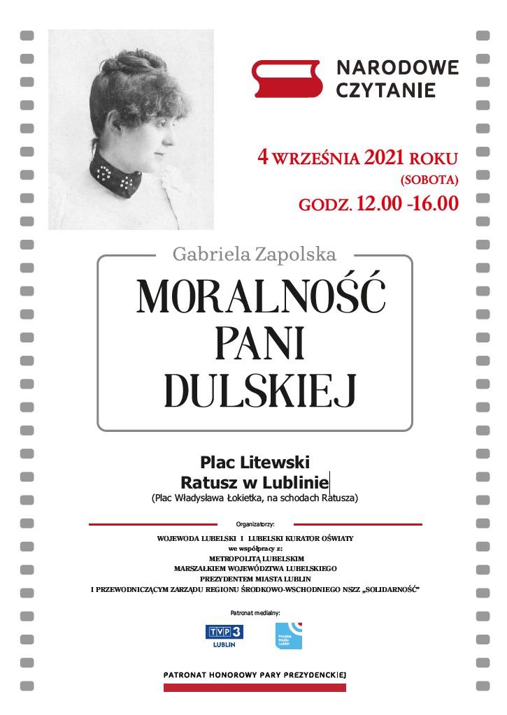 Narodowe Czytanie zaproszenie do Lublina