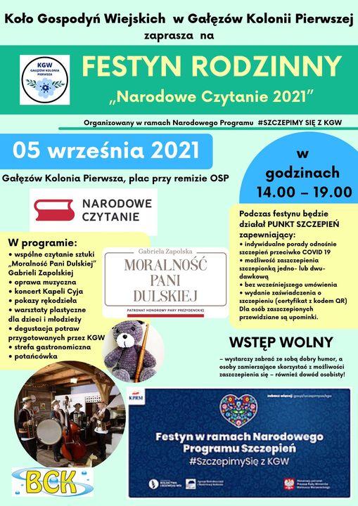 Koło Gospodyń Wiejskich w Gałęzowie-Kolonii Pierwszej zaprasza na FESTYN RODZINNY 5 września