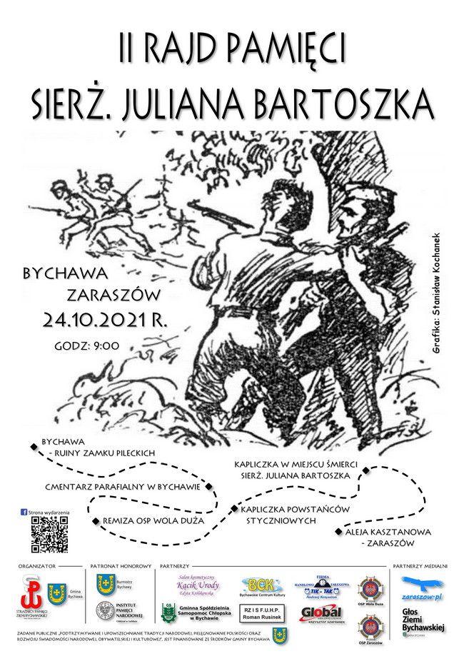 Rajd Pamięci sierż. Juliana Bartoszka odbędzie się 24 października 2021 r.